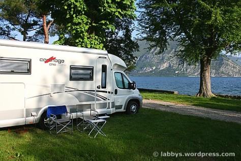 Unser Platz am Lago d`Iseo