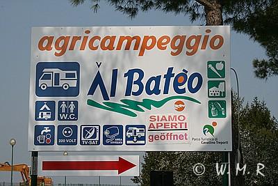 Hinweisschild Al Bateo