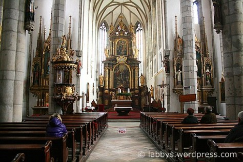 Kirche Cesky Krumlov