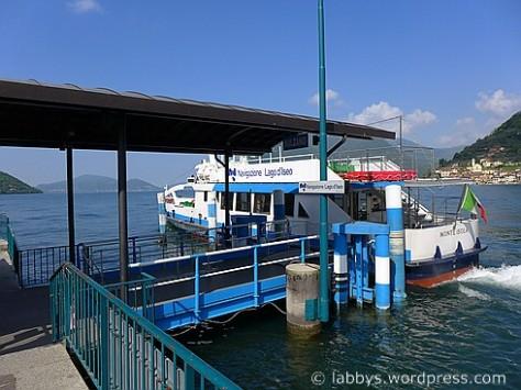 Überfahrt zur Insel Monte Isola