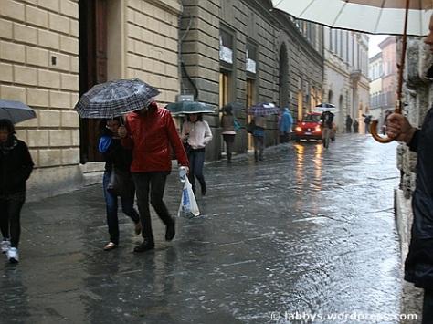 Regentag in Siena