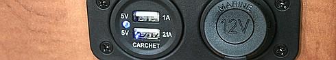 USB- und 12 Volt Steckdose nachgerütstet
