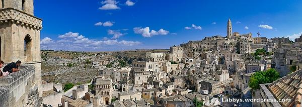 Panorama von Matera - zum vergrößern einfach anklicken
